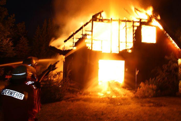 住宅火災の様子