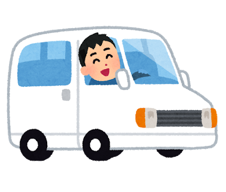車を運転する男性イラスト
